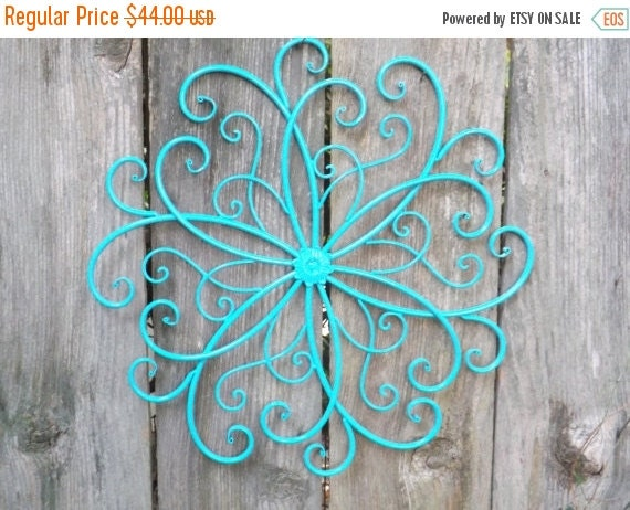 Wrought Iron Wall Decor Flowers : On sale large wrought iron wall scroll metal by