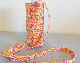 Insulated Water Bottle Carrier - Springtime Floral