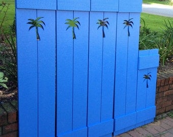 Shutter Exterior Interior ONE Cedar Wood Painted OR Unpainted Beach Cottage Lake Country House Shutter - 68 Inch by CastawaysHall