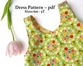 Dress Tutorial,  Pinafore Dress Tutorial, PDF Pattern, Reversible Dress Tutorial, Sewing Pattern With Instructions, Baby Dress Pattern