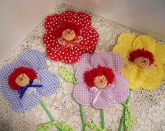 Raggedy Flower Dolls