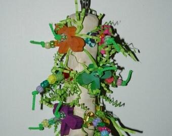 "HappyWings ""Dragonfly Totem""  Hanging Bird Toy  Conures Meyers Senegals Caiques Indian Ringnecks Pionus Parrot"