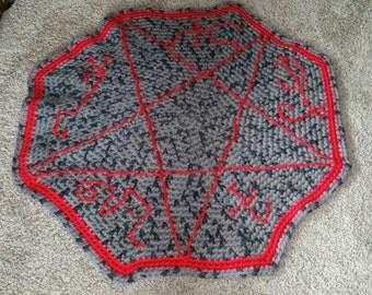 Devil's Trap decorative rug