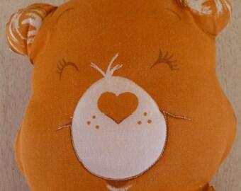 Vintage Care Bear Tenderheart Bear Cloth Doll Pillow