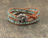 Sparkling Turquoise Hummingbird Bracelet Colorful Hummingbird Jewelry