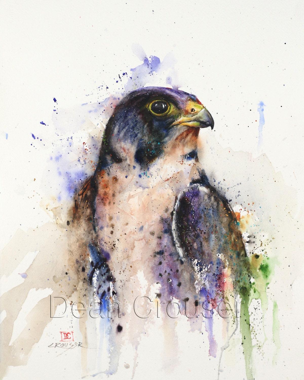Hawk painting watercolor - photo#34