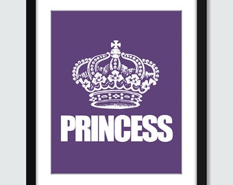 Princess Wall Art - 8x10 Custom Wall Print Poster