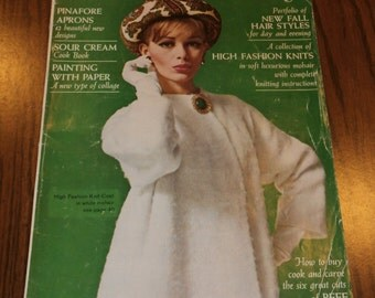 Vintage Woman's Day Magazine September 1964 1960s, Advertising, Fashion