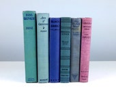 Lilac and Blue Book Collection, Antique Books