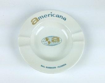 Americana Bal Harbour Florida Ashtray, Harkerware, Harker Pottery, Liverpool, Ohio