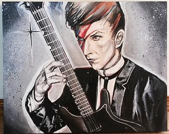 "20"" x 16"" David Bowie Portrait"