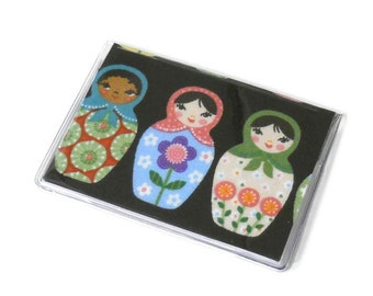 Card Case Mini Wallet Matryoshka Dolls