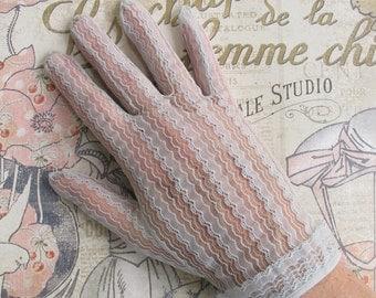 Vintage Dove Gray Lace Glove ... Bridal