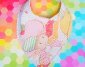 Strawberry Shortcake Bandana baby bib upcycled hipster vintage style by felices happy designs