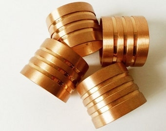 Beucler Copper Napkin Rings Vintage Set of 4