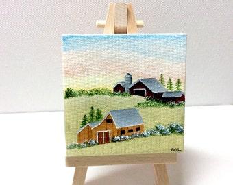 Summer Barn Scene