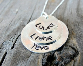 Personalized Jewelry - Mom Necklace - Mother's Necklace - Stack necklace -Name Necklace