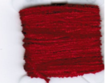 100% Silk Chenille - 2mm OR 4mm  Perfect Red