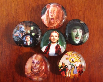 WIZARD of OZ Glass Magnets