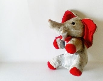 Vintage Stuffed Animal Elephant