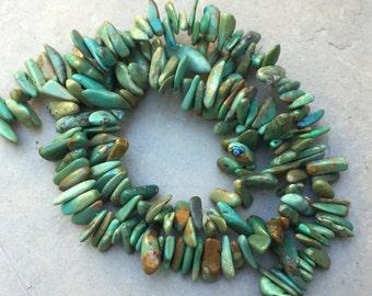 Arizona Turquoise, Turquoise Chip Beads, Grade AAA, 8 to 13
