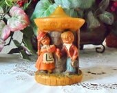 Vintage German Candle Gunter Kerzen Carved Candle Eternal Wooing Collectible Romantic Valentines Day Gift Beeswax Candle West Germany