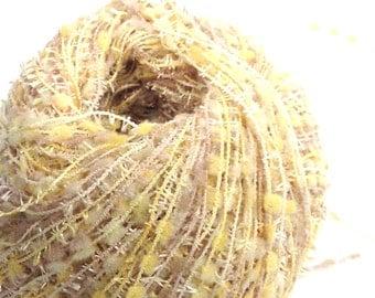 Novelty Yarn from Ice Yarns, Made in Turkey, Yellow Knitting Yarn, Y198