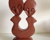 Modernist Carved Sculpture-Signed