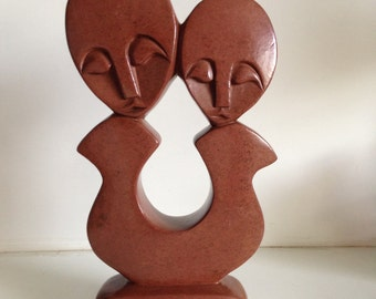 Modernist Carved Sculpture-Signed