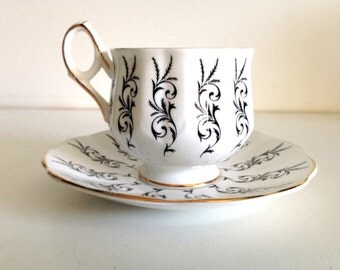 Mid-Century Elizabethan Tea Cup and Saucer