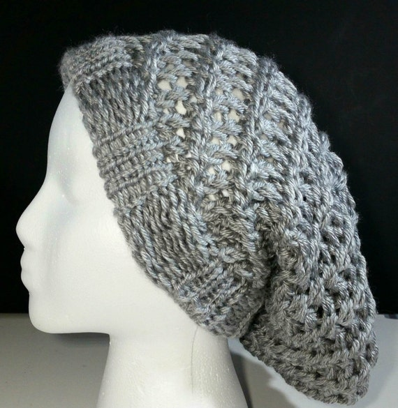 How To Loom Knit Slouchy Beanie Basketweave : Spiral slouchy beanie loom knit