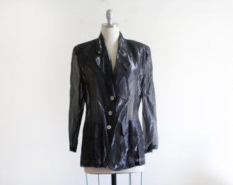 90's Sheer Shimmer Black Jacket