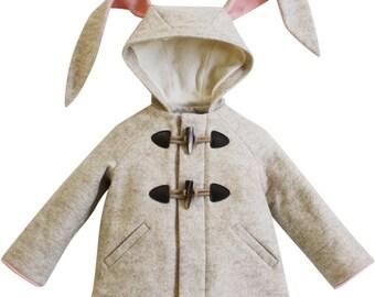 Girl's Bunny Coat: Snowshoe Rabbit