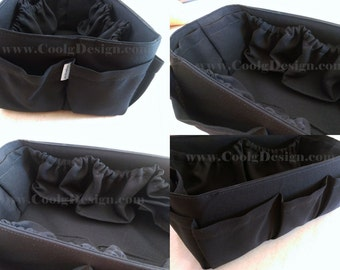Diaper Bag organizer Insert For Longchamp Le Pliage Large Bag / Solid Black