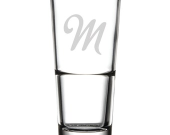 Drinking Glass - 16 oz. - 10514 Monogram Metroscript