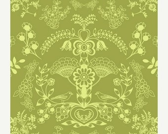 ON SALE - Floralism in Fresh Grass (MO-3804) - Modernology by Patricia Bravo - Art Gallery Fabric - By the Yard