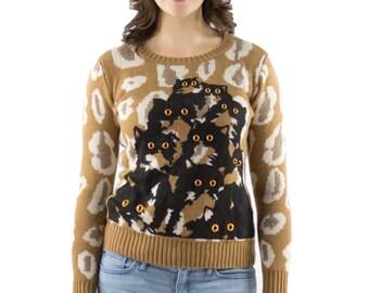 Cheetah Crazy Kitty Sweater