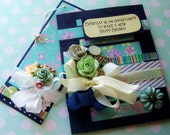 Elegant handmade greeting card, with Gorgeous embellishments and Matching Embellished tag, Wedding, Birthday, Congratulations, Friendship