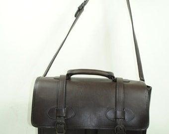 ON SALE 50% Formal EXQUISITE Cowhide Leather Super Fine Satchel Bag.