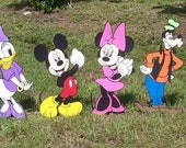 Mickey Mouse and Friends Full Set Stand Ups, standee, Photo Prop, Mickey Clubhouse Decorations