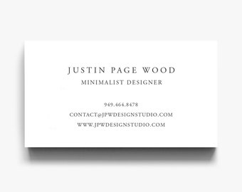 Business Card Template, Elegant Calling Card, Simple Business Cards, Minimalist Business Card, Classic Business Cards, Editable Calling Card