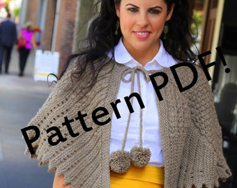 Priscilla Vintage Capelet: PDF Knitting Pattern by The Sexy Knitter