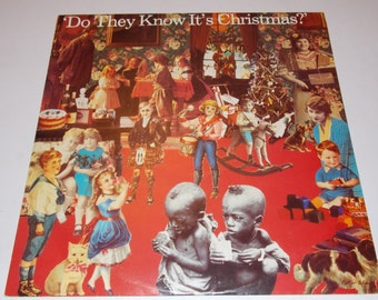 """1984 - Band Aid - Do They Know It's Christmas? - Feed The World - 12"""" single - 45 Vinyl Record -"""