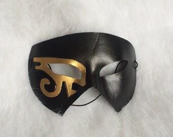 Egyptian Eyes - leather costume mask