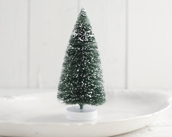 Large Bottle Brush Tree 8 Inch Frosted Sisal Christmas Tree