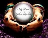 Psychic Reading 1 Question - Quick, Accurate, Email Reading, Tarot reading, Oracle reading