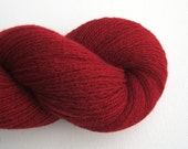 Reclaimed Cashmere Yarn, Heavy Lace Weight, Garnet Red, 550 Yards, Lot 130216