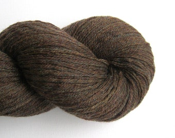 Sport Weight Recycled Merino Wool Yarn, Brown, Lot 190216