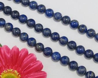 natural Lapis lazuli 12mm round Loose Beads