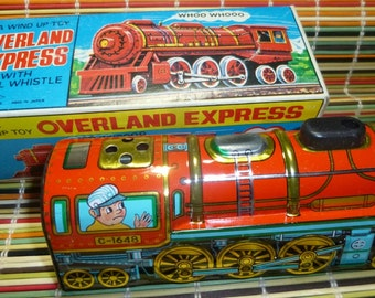 Overland Express Vintage Wind Up Toy by Yone, 1960s